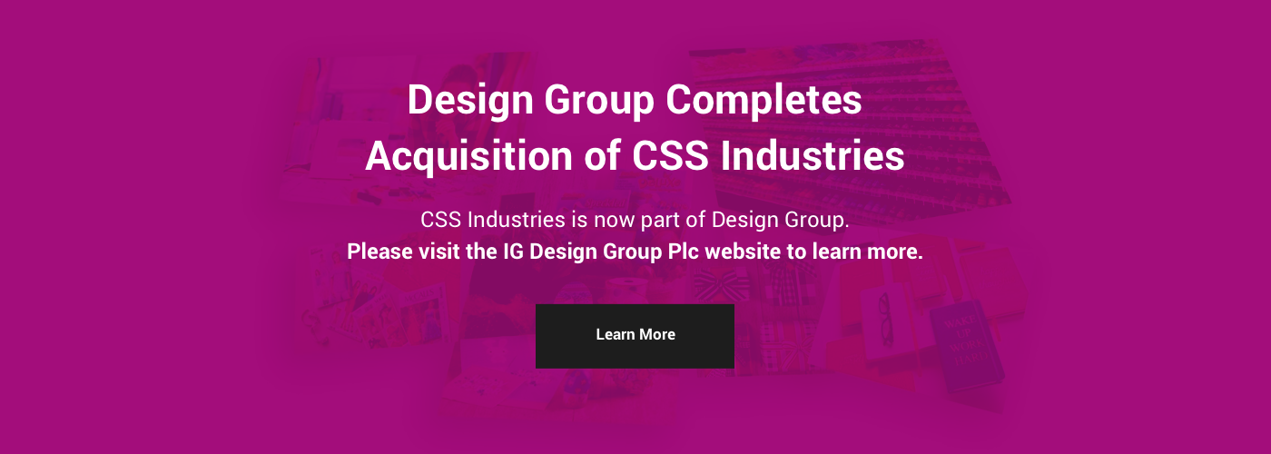 Design Group Completes Acquisition of CSS Industries – Click to learn more